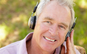 ing Older man with headset