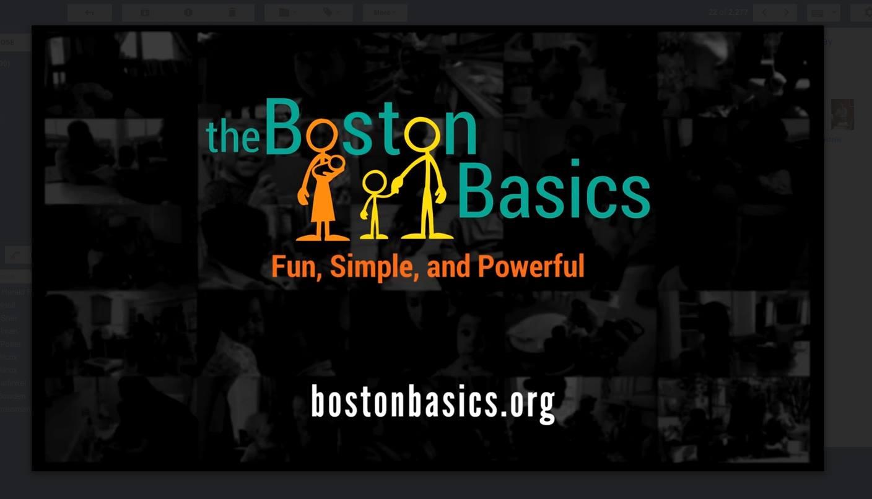 Boston Basics logo. boston.thebasics.org