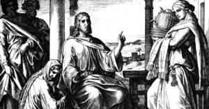 Mary, Martha and Jesus, from Luke 10:38-42